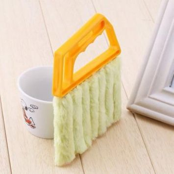 Home Cleaning Supplies -mini Hand-held Cleaner Blind Blade Cleaner Window Conditioner Duster Clean Brush Dirt Clean Cleaner Used For Car , Fan , Shoes , Office , Home