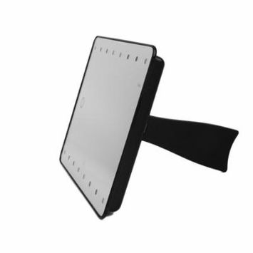 MR-L206 16 LED Adjustable Brightness Home Bedroom Women Facial Makeup Mirror Portable Size tabl etop Desktop Mirror