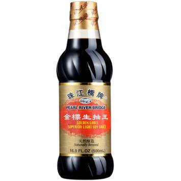 Pearl River Bridge Golden Label Superior Light Soy Sauce, Plastic Bottles, 16.9 fl oz