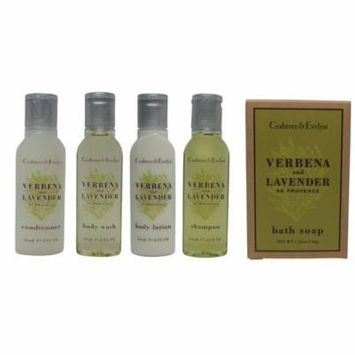 Crabtree and Evelyn Verbena Travel Set Lotion, Shampoo, Conditioner, Shower Gel, Soap
