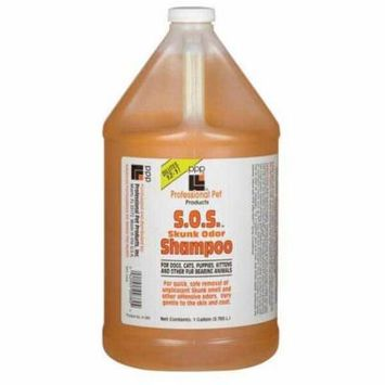 SOS Skunk Odor Shampoo Gallon Concentrate Dog Pet Grooming Bathing Dilutes 12:1