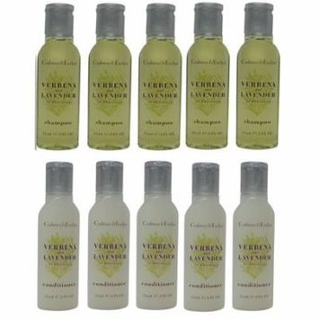Crabtree & Evelyn Verbena & Lavender Shampoo & Conditioner Lot of 10(5 of each 0.8oz) Bottles
