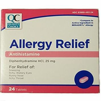 Quality Choice Allergy Relief Antihistamine 24 Tablets (Pack of 1)