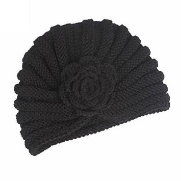 Lanhui_Elegant Women Ladies Boho Knitting Cancer Hat Beanie Scarf Turban Head Wrap Cap