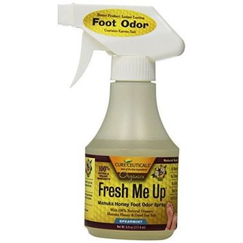 Cureceuticals Fresh Me Up Foot Odor Manuka Honey Daily Foot Hygiene Spray - Spearmint, 6-Ounce
