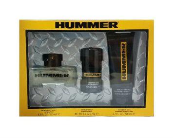 HUMMER (M) 3PC GIFT SET: HUMMER 125ML EDT SPRAY + DEO STICK + HAIR & BODY WASH 200ML (SOFT BOX WINDOW)
