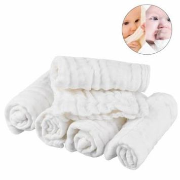 Two-Sided Baby Wipes - 100% Organic Cotton Baby Wipes Soft Newborn Baby Face Towel - Set of 5