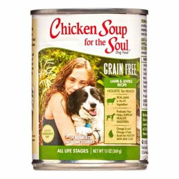 Chicken Soup For The Soul Grain-Free Lamb & Lentils LID Recipe Wet Dog Food, 13 oz