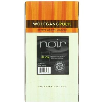 Wolfgang Puck Coffee, Noir, 12 Gram Pods, 16 count [Noir Pods]