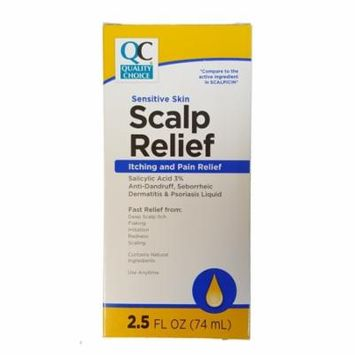 5 Pack Quality Choice Scalp Relief SCALPICIN 2.5oz Each