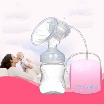 Electric Breast Pump,Silicone Postpartum Milk Suckers Feeding Nursing Bottle, Breast Milk Suckers,Multi-Frequency Suction Mode and Backflow Prevention Design