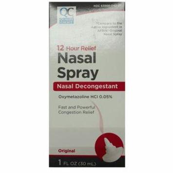 2 Pack Quality Choice Nasal Spray Decongestant 12HR Relief 1oz Each