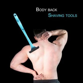 Foldable Handle Design Men Women Plastic Body Back Hair Shaver Long Handle