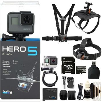 GoPro HERO5 Black 12 MP Waterproof 4K Camera Camcorder with 16GB Accessory Kit