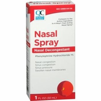 6 Pack Quality Choice 4 Way Acting Nasal Spray 1oz Each