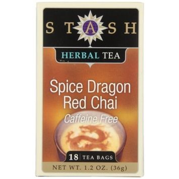 Stash Tea Spice Dragon Red Chai Herbal Tea 18 Count Tea Bags in Foil (Pack of 6) Individual Red Herbal Tea Bags for Use in Teapots Mugs or Cups, Brew Hot Tea or Iced Tea