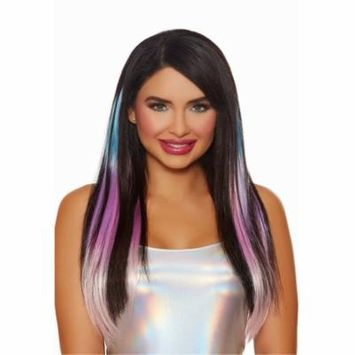 Women's Long Straight Layered Ombr Three-Piece Hair Extensions