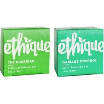 3 Pack - Ethique Solid Bars, Damage Control Shampoo + Guardian Conditioner 1 ea