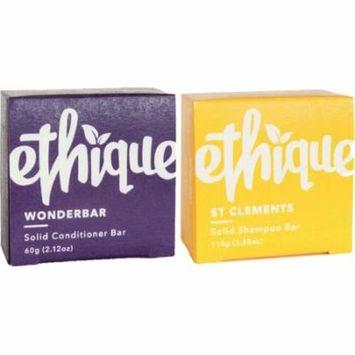 Ethique Solid Bars, St. Clements Shampoo + Wonderbar Conditioner 1 ea
