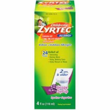Children's Zyrtec Allergy Syrup, Sugar Free Grape - 4 fl oz (Pack of 24)