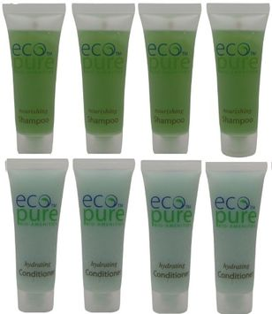 Eco Pure Nourishing Shampoo and Hydrating Conditioner Lot of 8 (4 of each) 1oz