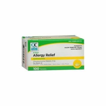 6 Pack Quality Choice Allergy Relief Chlorpheniramine 4mg 100 Tablets Each