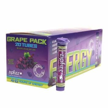 Zipfizz Healthy Energy Mix, Tubes Grape0.4 oz. x 20 pack(pack of 2)