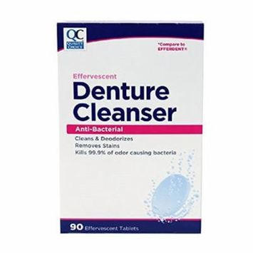 3 Pack Quality Choice Denture Cleanser Anti-Bacterial Tablets 90 count Each