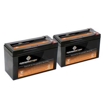12V 7.6AH SLA Battery replaces hr9-12 gp1270 sla1075 wp7-12 bp8-12 - 2PK - S00050-2PK-00002
