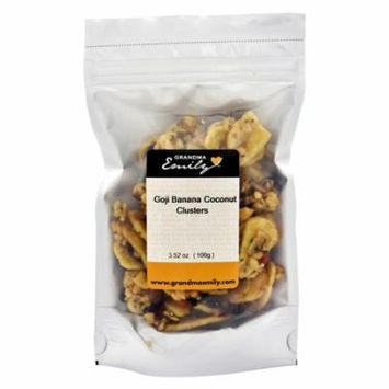 Grandma Emily 's, Granola Clusters Snack Pack with Hearty Goji, Banana and Coconut 3.52 oz x 4