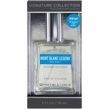 Parfums De Coeur Designer Imposters Impression of Mont Blanc Legend Eau de Toilette Spray, 2 fl oz