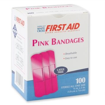 AMERICAN WHITE CROSS Pink Adhasive Bandages