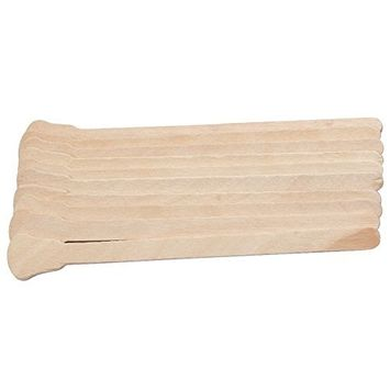 SODIAL 50Pcs Wooden Waxing Wax Spatula Tongue Disposable Sticks Hair Removal Cream Stick For Waxing Body Hair Care