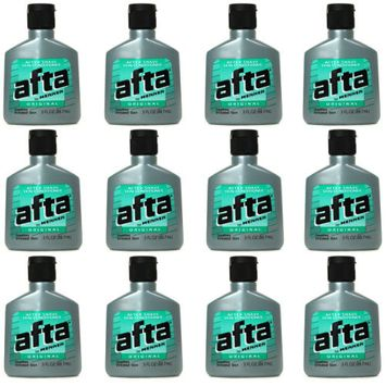 Afta Original After Shave Lotion with Skin Conditioner By Mennen 3 oz (12 Pack)