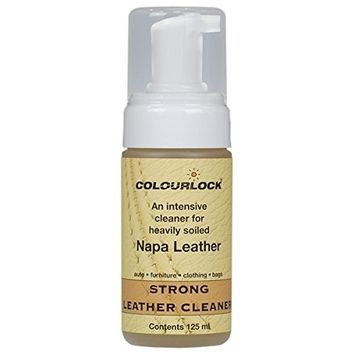 COLOURLOCK Strong Leather Cleaner for Car interiors, furniture upholstery, bags and clothing. (125 ml)