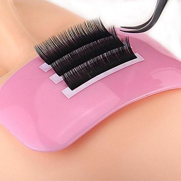 Rectangle Silicone Eyelash Extension Pad Eye Lash Glue Stand Tray Holder by HuntGold, Pink 11x5.5cm