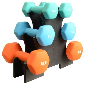 BalanceFrom Dumbbell Set with Stand (32-Pound)