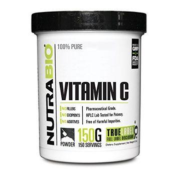 NutraBio Vitamin C Powder (150 Grams)