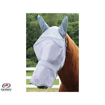 Derby Reflective Fly Mask with Ears and Nose & One Year Warranty