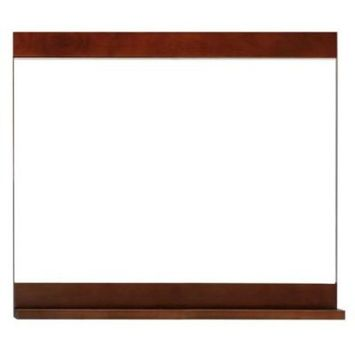Schon Vero 26 in. L x 30 in. W Wall Mounted Mirror in Chocolate
