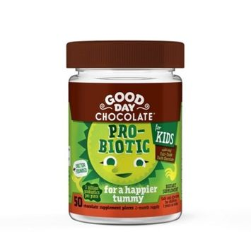 Kid's Good Day Chocolate Probiotic Dietary Supplement Chewables - 50ct