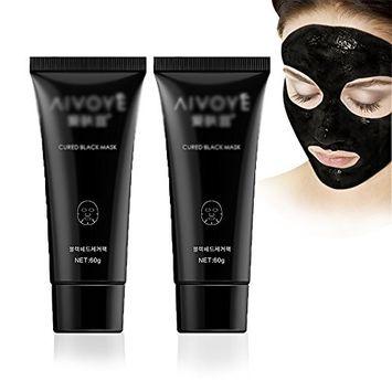 Nose Blackhead Remover Face Black Mask Acne Treatment Peeling Mask Suction Facial Skin Care Pore Strip Black Head Masks(2-PACK)