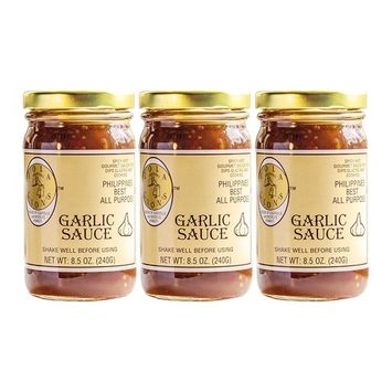 Lola Cion's Garlic Sauce (8.5 oz.) 3 pack bottles. All Natural, Multipurpose Glaze, Dressing, Topping, or Dip | Low -Sugar | Bold Sweet & Spicy Flavor