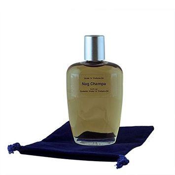 Nag Champa Perfume Oil - 3.4 oz in Premium Glass Bottle