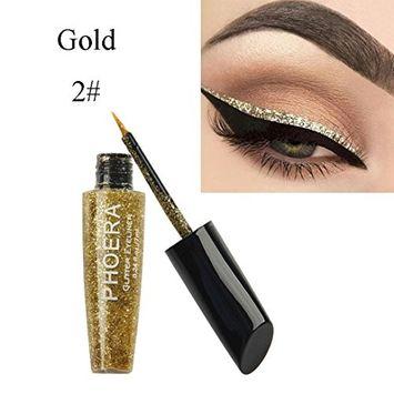 10 Color Makeup Metallic Shiny Eyes Eyeshadow Waterproof Glitter Liquid Eyeliner By DMZing