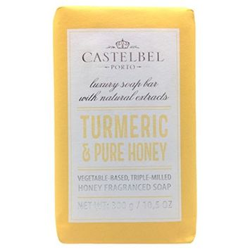 Castelbel Porto Turmeric And Honey Vegetable Triple Milled Luxury Soap Bar 10.5 Oz