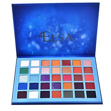 Starry Eye Shadow Palette-Lotus.Flower Limited Edition 35 Color Eye Shadow Powder Make up Waterproof Eye Shadow Palette Cosmetics, Addictive (35Colors)