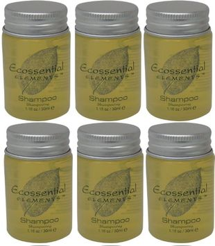 Ecossential Elements Shampoo Lot of 6 each 1.1oz Bottles.6oz (Pack of 6)
