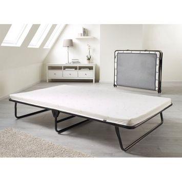 Stevro Ltd JAY-BE Saver Folding Bed with Memory Foam Mattress, Oversized, Black/White
