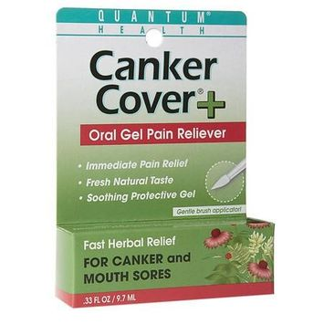 Quantum Health Herbal Canker Care + Oral Pain Reliever 0.33 oz.(pack of 4)